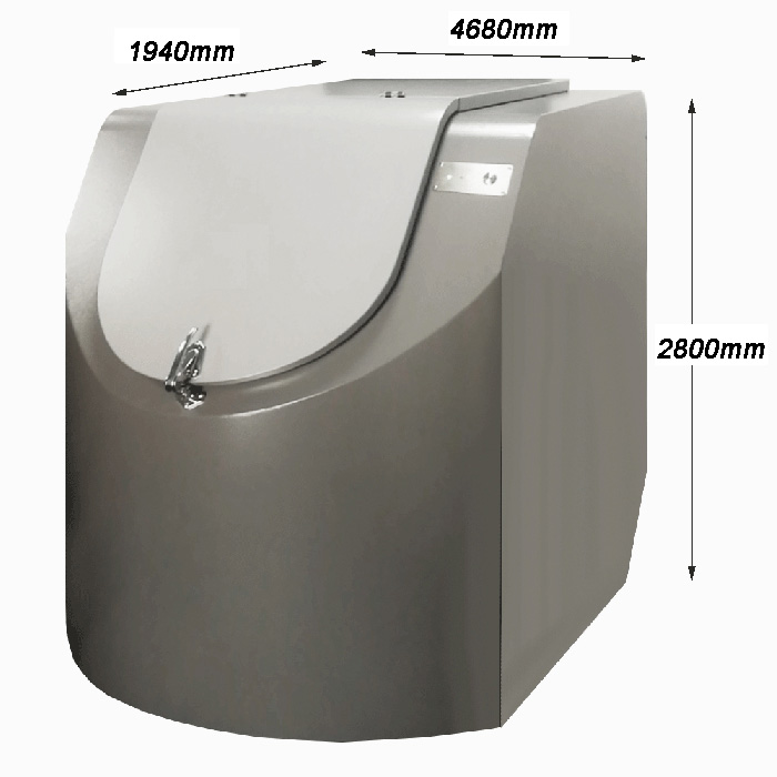 5000kg food waste disposer kitchen organic waste composting machine