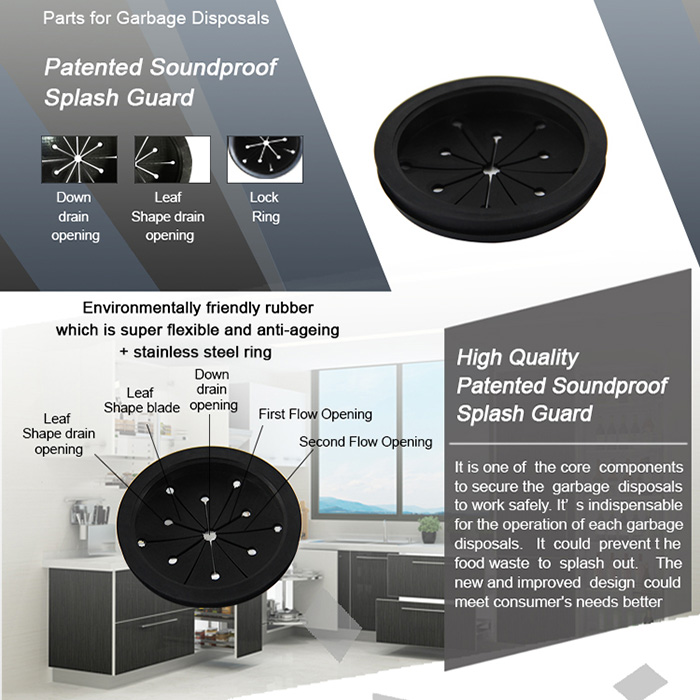 Patented Soundproof Splash Guard For Garbage Disposals